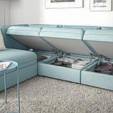 VALLENTUNA ВАЛЛЕНТУНА Модуль кутів 3-місного дивана-ліжка - відділення д/зберігання/ХІЛЛАРЕД світло-, фото 5