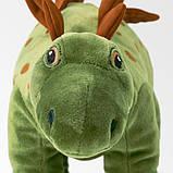 JÄTTELIK ЄТТЕЛІК Іграшка м'яка - динозавр/стегозавр - IKEA, фото 3