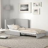 VALLENTUNA ВАЛЛЕНТУНА Модуль дивана-ліжка зі спинкою - ОРРСТА світло-сірий - IKEA, фото 4