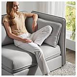 VALLENTUNA ВАЛЛЕНТУНА Модуль дивана-ліжка зі спинкою - ОРРСТА світло-сірий - IKEA, фото 7