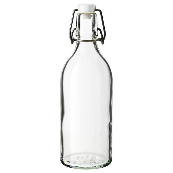 KORKEN КОРКЕН Пляшка з пробкою - прозоре скло - IKEA