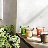VÄLDOFT ВЕЛЬДОФТ Свічка ароматична у склянці - Сіль та цукор/сірий - IKEA, фото 5