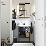 ENHET ЕНХЕТ / TVÄLLEN ТВЕЛЛЕН Меблі для ванної кімнати, набір 9шт - антрацит/SALJEN САЛЬЙЕН змішувач, фото 2