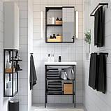 ENHET ЕНХЕТ / TVÄLLEN ТВЕЛЛЕН Меблі для ванної кімнати, набір 9шт - антрацит/SALJEN САЛЬЙЕН змішувач, фото 4