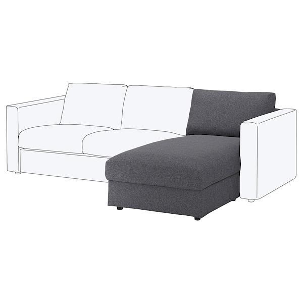 VIMLE ВІМЛЕ Секція кушетки - ГУННАРЕД класичний сірий - IKEA