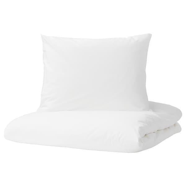 DVALA ДВАЛА Підковдра+2 наволочки - білий - IKEA
