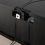 BESTÅ БЕСТО Тумба під телевізор - чорно-коричневий - IKEA, фото 4