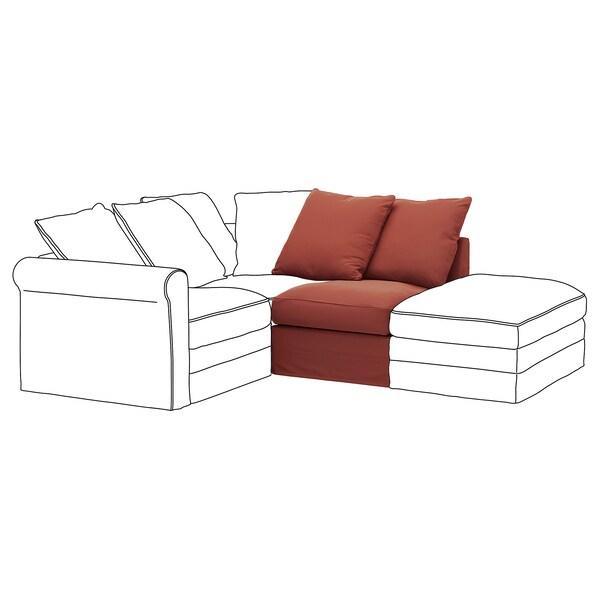 GRÖNLID ГРЕНЛІД 1-місна секція - ЛЬЙУНГЕН світло-червоний - IKEA