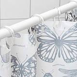 SOMMARMALVA СОММАРМАЛЬВА Шторка для душу - білий/темно-сірий - IKEA, фото 2