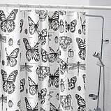 SOMMARMALVA СОММАРМАЛЬВА Шторка для душу - білий/темно-сірий - IKEA, фото 3