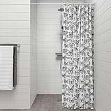SOMMARMALVA СОММАРМАЛЬВА Шторка для душу - білий/темно-сірий - IKEA, фото 4