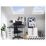 ALEX АЛЕКС Тумба із шухлядами на коліщатках - білий - IKEA, фото 6