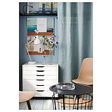 ALEX АЛЕКС Тумба із шухлядами на коліщатках - білий - IKEA, фото 7