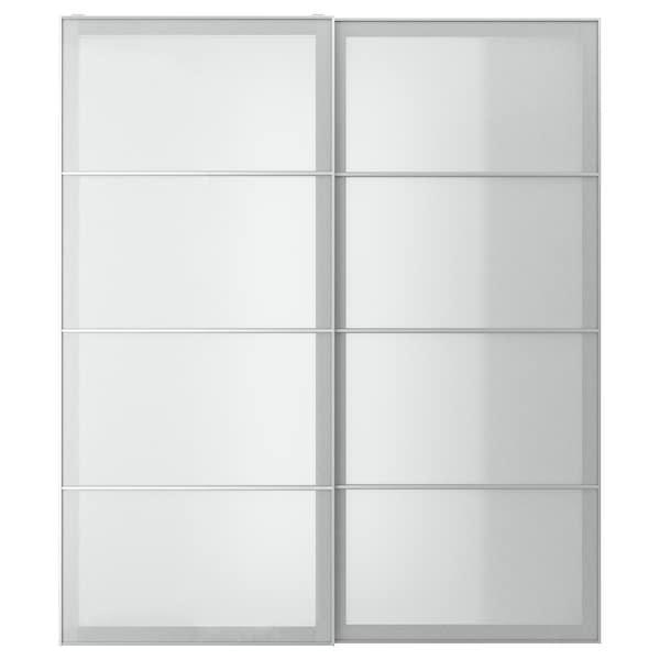 SVARTISDAL СВАРТІСДАЛЬ Пара розсувних дверцят - білий під папір - IKEA