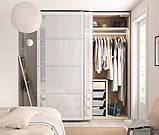 SVARTISDAL СВАРТІСДАЛЬ Пара розсувних дверцят - білий під папір - IKEA, фото 3