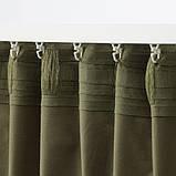 SANELA САНЕЛА Світлонепроникні штори, пара - оливково-зелений - IKEA, фото 4