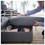 VIMLE ВІМЛЕ Диван U-подібної форми, 6-місний - з вікритою секцією/ГУННАРЕД класичний сірий - IKEA, фото 7