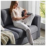 VIMLE ВІМЛЕ Диван U-подібної форми, 6-місний - з вікритою секцією/ГУННАРЕД класичний сірий - IKEA, фото 8