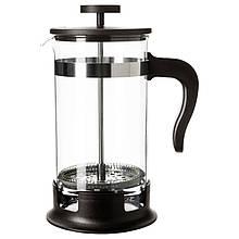 IKEA UPPHETTA (602.413.89) Кофе-пресс/заварочный чайник, стекло, нержавеющая сталь