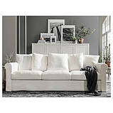 GRÖNLID ГРЕНЛІД 3-місний диван - ІНСЕРОС білий - IKEA, фото 8