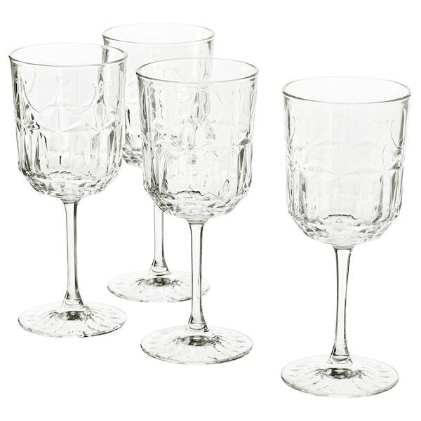 SÄLLSKAPLIG СЕЛЛШАПЛІГ Келих для вина - прозоре скло/із малюнком - IKEA