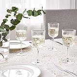 SÄLLSKAPLIG СЕЛЛШАПЛІГ Келих для вина - прозоре скло/із малюнком - IKEA, фото 2