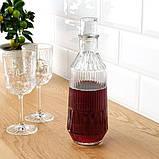 SÄLLSKAPLIG СЕЛЛШАПЛІГ Келих для вина - прозоре скло/із малюнком - IKEA, фото 3