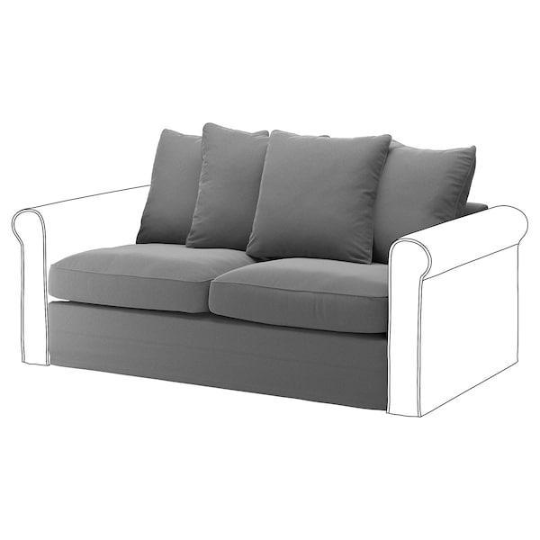 GRÖNLID ГРЕНЛІД Чохол д/секції 2-місного дивана-ліж - ЛЬЙУНГЕН класичний сірий - IKEA