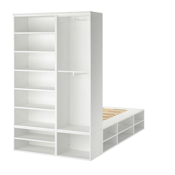 PLATSA ПЛАТСА Каркас ліжка з відділ д/зберігання - білий - IKEA