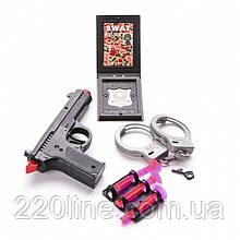 Игровой набор Пистолет с присосками, рацией и наручниками IM116C