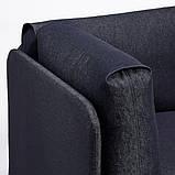 RÅVAROR РОВАРОР Кушетка з 1 матрацом - темно-синій/ХАМАРВІК жорсткий - IKEA, фото 3