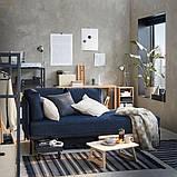 RÅVAROR РОВАРОР Кушетка з 1 матрацом - темно-синій/ХАМАРВІК жорсткий - IKEA, фото 4