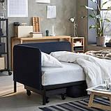 RÅVAROR РОВАРОР Кушетка з 1 матрацом - темно-синій/ХАМАРВІК жорсткий - IKEA, фото 7