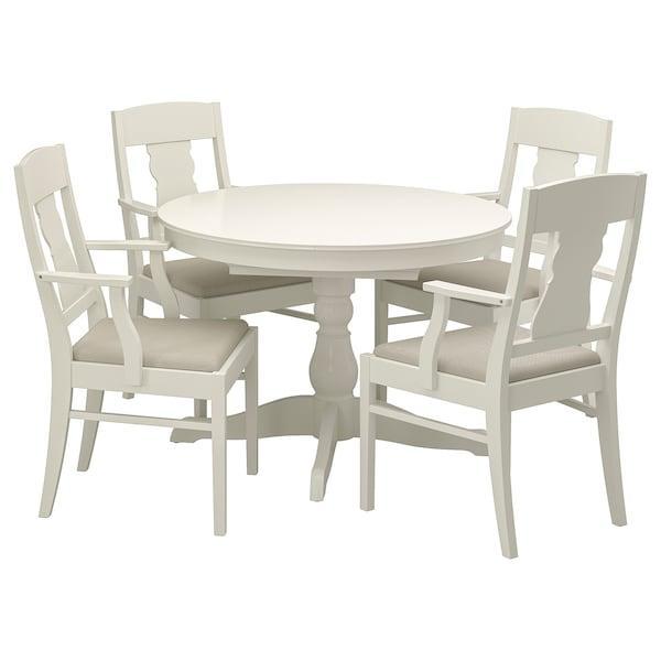INGATORP ІНГАТОРП Стіл+4 стільці - білий - IKEA