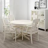INGATORP ІНГАТОРП Стіл+4 стільці - білий - IKEA, фото 4