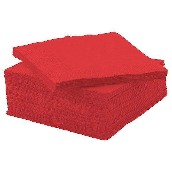 FANTASTISK ФАНТАСТІК Серветка паперова - червоний - IKEA