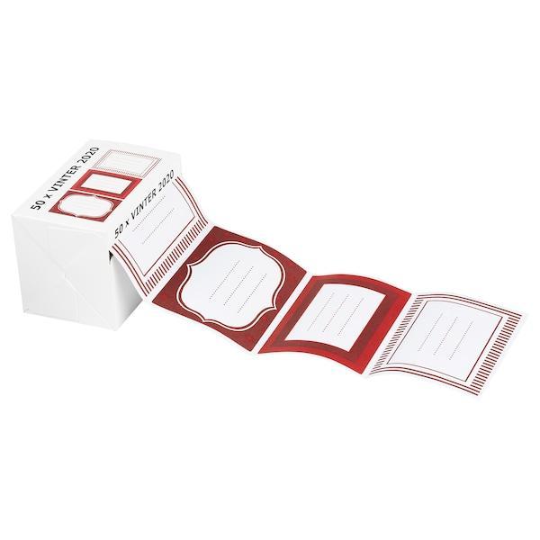 VINTER 2020 ВІНТЕР 2020 Наліпки - білий/червоний - IKEA