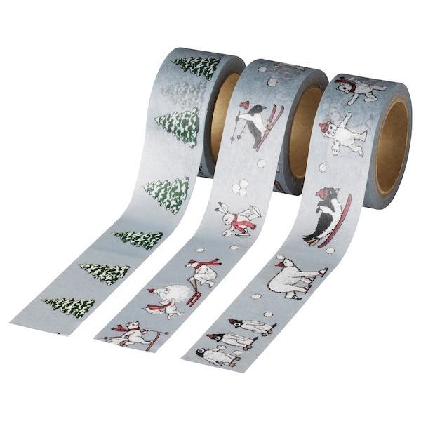 VINTER 2020 ВІНТЕР 2020 Рулон скотчу - тварини сірий - IKEA
