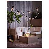 IKEA, GODAFTON, ТВЕРДЫЕ светодиодные свечи,  3 шт., На батарейках, натуральные, фото 5