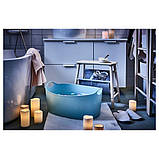 IKEA, GODAFTON, ТВЕРДЫЕ светодиодные свечи,  3 шт., На батарейках, натуральные, фото 6
