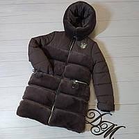 """Зимняя куртка- шубка для девочки """"Плюша"""", фото 1"""