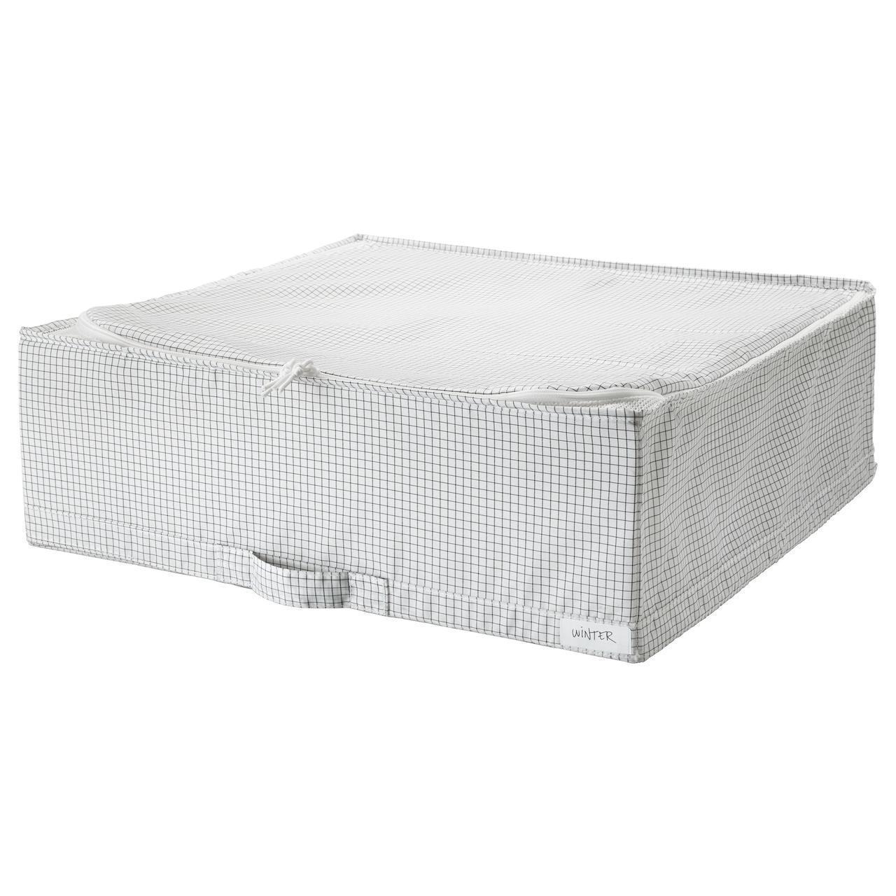 IKEA STUK (403.095.73) Контейнер для одежды/постельных принадлежностей, белый/серый