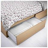 IKEA MALM (591.764.84) Кровать, высокая, 2 контейнера, белый витраж, Luroy, фото 3