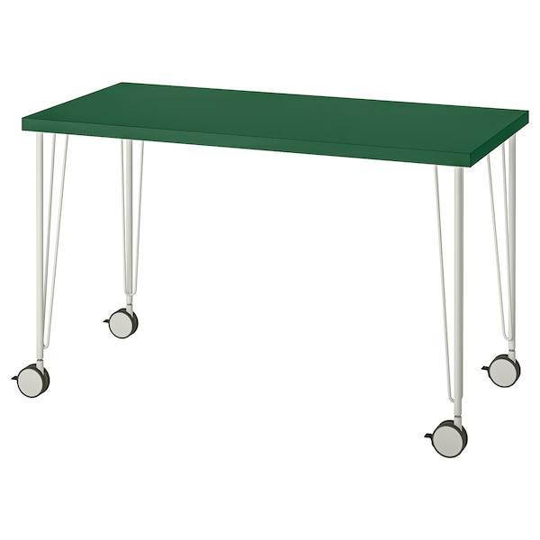 LINNMON ЛІННМОН / KRILLE КРІЛЛЕ Стіл - зелений/білий - IKEA