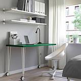 LINNMON ЛІННМОН / KRILLE КРІЛЛЕ Стіл - зелений/білий - IKEA, фото 2