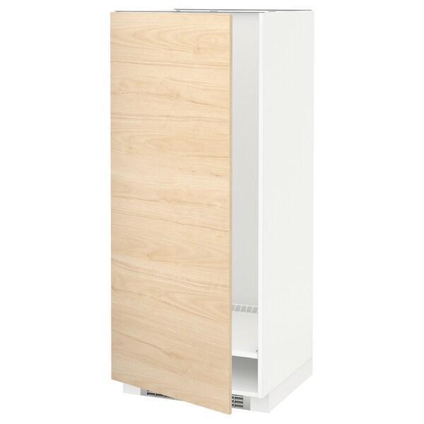 METOD МЕТОД Висока шафа для холодильнка/морозил - білий/АСКЕРСУНД під світлий ясен - IKEA