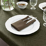DOFTMINNE ДОФМІННЕ Скатертина+6 серветок - із малюнком/зелений - IKEA, фото 2
