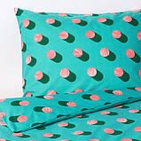 GRACIÖS ГРАСІЕС Підковдра+1 наволочка - в цятку/рожевий бірюзовий - IKEA, фото 5