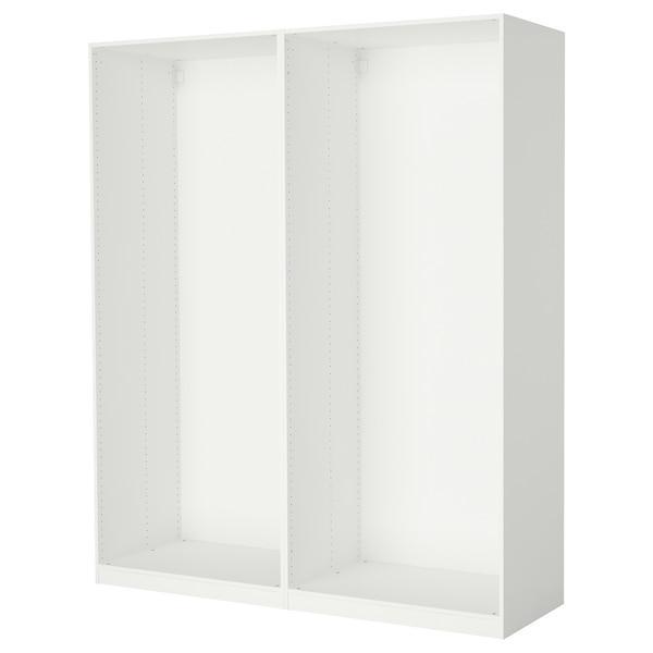 PAX ПАКС 2 каркаси гардероба - білий - IKEA