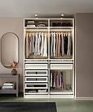 PAX ПАКС 2 каркаси гардероба - білий - IKEA, фото 3